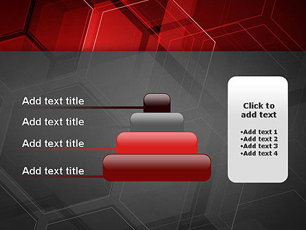 Abstract Red Hexagons PowerPoint Template Slide 8