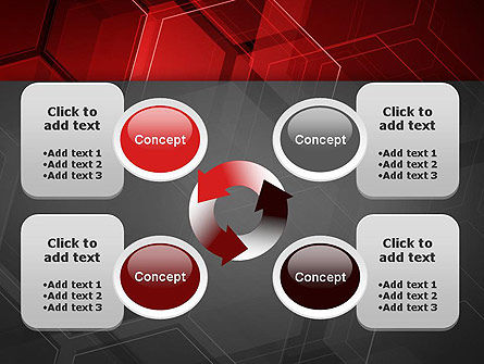 Abstract Red Hexagons PowerPoint Template Slide 9