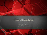 Abstract/Textures: Abstract Red Hexagons PowerPoint Template #13129