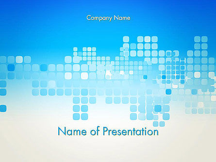 Abstract/Textures: Squares Abstract PowerPoint Template #13130