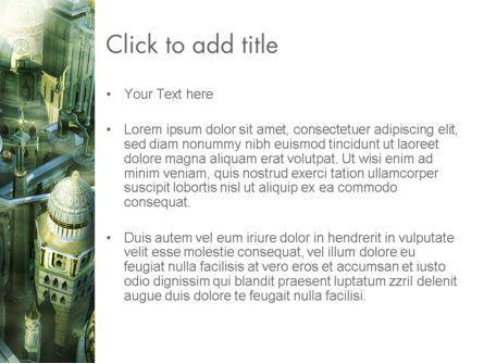 Mystical City PowerPoint Template, Slide 3, 13131, Construction — PoweredTemplate.com
