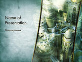 Construction: Mystical City PowerPoint Template #13131