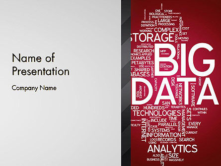 Technology and Science: Big Data Word Cloud PowerPoint Template #13135