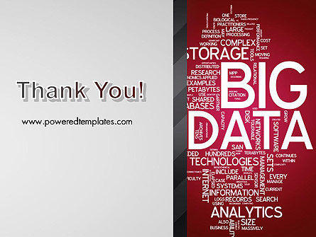 Big Data Word Cloud PowerPoint Template Slide 20