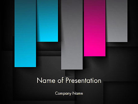 Vertical Strips of Paper Abstract PowerPoint Template