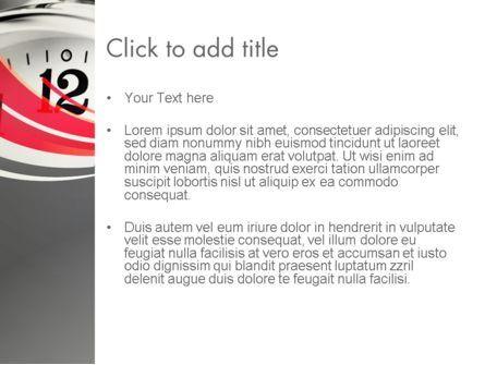 Alarm Clock Theme PowerPoint Template, Slide 3, 13138, Consulting — PoweredTemplate.com