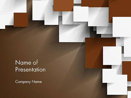 Abstract/Textures: Overlapping Squares Concept PowerPoint Template #13140
