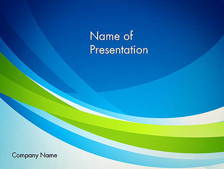 Green and Blue Curves PowerPoint Template