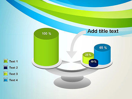 Green and Blue Curves PowerPoint Template Slide 10