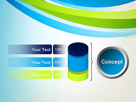 Green and Blue Curves PowerPoint Template Slide 11