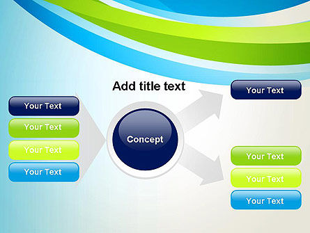 Green and Blue Curves PowerPoint Template Slide 14