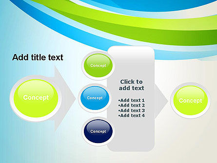 Green and Blue Curves PowerPoint Template Slide 17