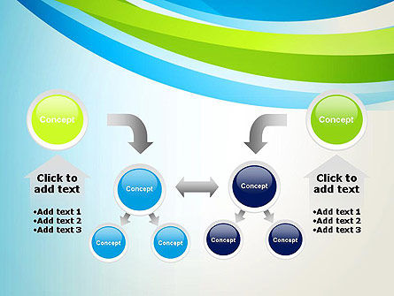 Green and Blue Curves PowerPoint Template Slide 19