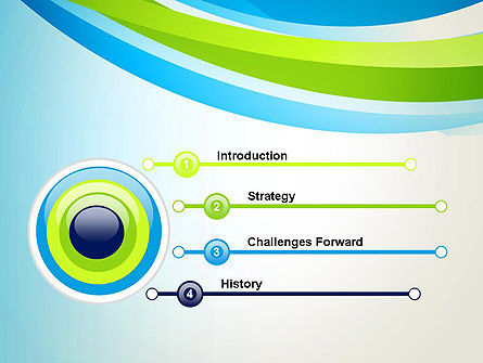 Green and Blue Curves PowerPoint Template Slide 3