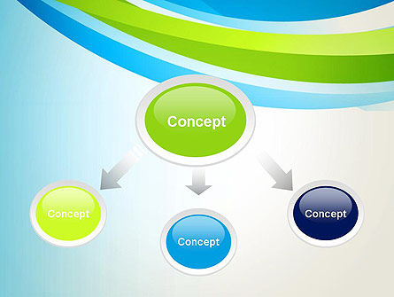 Green and Blue Curves PowerPoint Template Slide 4