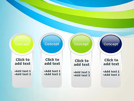 Green and Blue Curves PowerPoint Template Slide 5