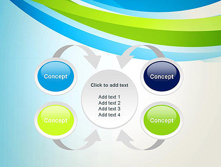 Green and Blue Curves PowerPoint Template Slide 6