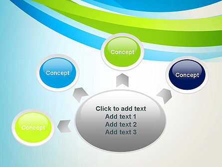 Green and Blue Curves PowerPoint Template Slide 7
