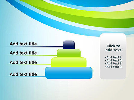 Green and Blue Curves PowerPoint Template Slide 8