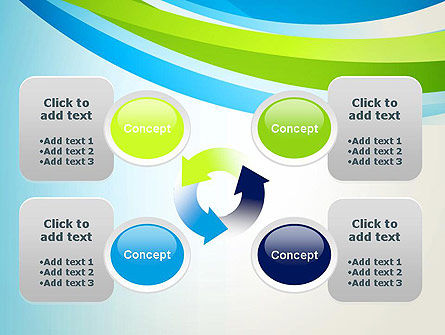 Green and Blue Curves PowerPoint Template Slide 9