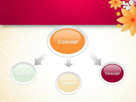 Abstract Origami Flower PowerPoint Template Slide 4