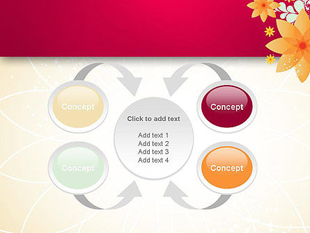 Abstract Origami Flower PowerPoint Template Slide 6