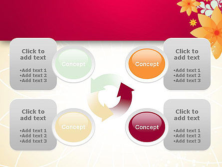 Abstract Origami Flower PowerPoint Template Slide 9