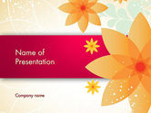 Art & Entertainment: Abstract Origami Flower PowerPoint Template #13142