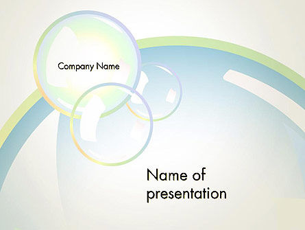 Abstract Soap Bubbles PowerPoint Template