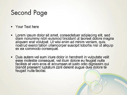 Abstract Soap Bubbles PowerPoint Template Slide 2