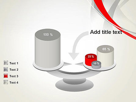Abstract Gray and Red Curves PowerPoint Template Slide 10