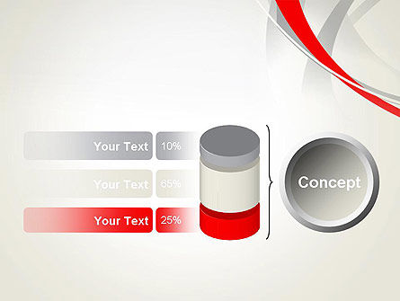 Abstract Gray and Red Curves PowerPoint Template Slide 11