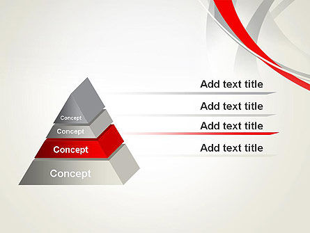 Abstract Gray and Red Curves PowerPoint Template Slide 12