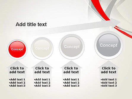 Abstract Gray and Red Curves PowerPoint Template Slide 13
