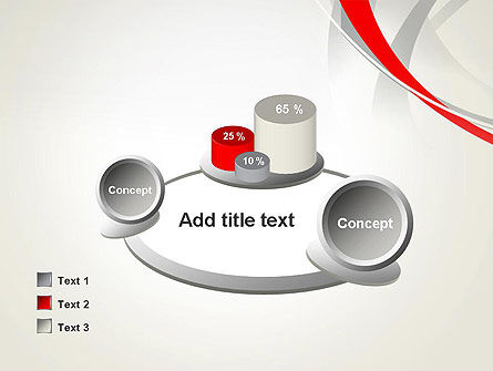 Abstract Gray and Red Curves PowerPoint Template Slide 16