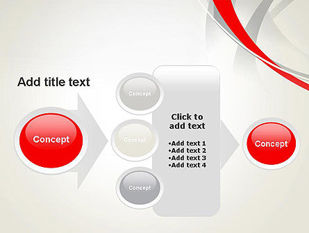 Abstract Gray and Red Curves PowerPoint Template Slide 17