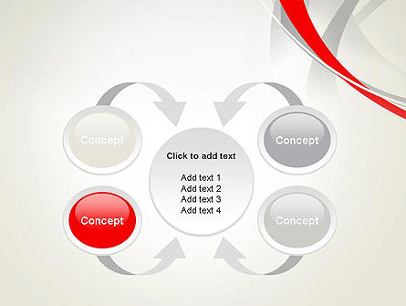 Abstract Gray and Red Curves PowerPoint Template Slide 6