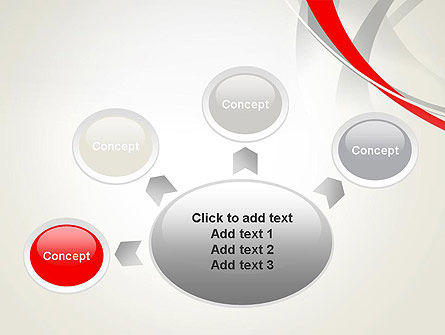 Abstract Gray and Red Curves PowerPoint Template Slide 7