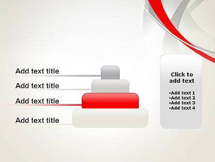 Abstract Gray and Red Curves PowerPoint Template Slide 8