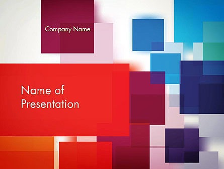 Overlapping Colorful Squares PowerPoint Template