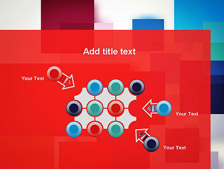 Overlapping Colorful Squares PowerPoint Template Slide 10