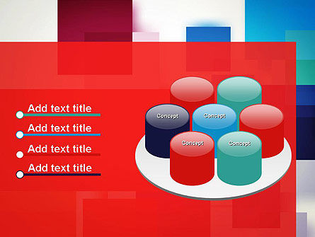 Overlapping Colorful Squares PowerPoint Template Slide 12