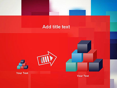 Overlapping Colorful Squares PowerPoint Template Slide 13