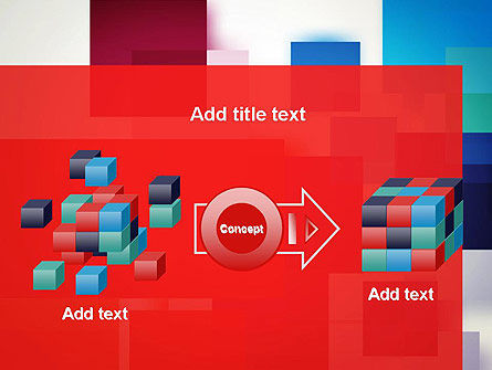Overlapping Colorful Squares PowerPoint Template Slide 17