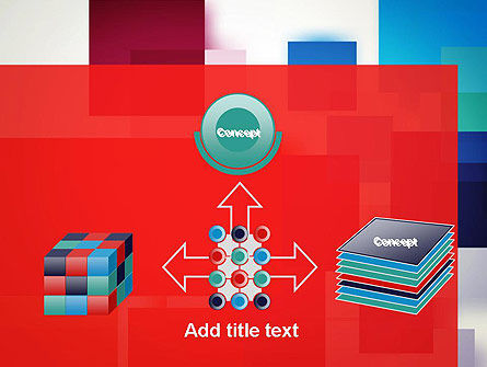 Overlapping Colorful Squares PowerPoint Template Slide 19