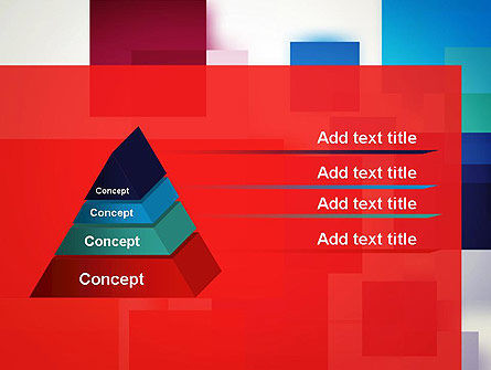 Overlapping Colorful Squares PowerPoint Template Slide 4