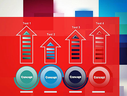 Overlapping Colorful Squares PowerPoint Template Slide 7