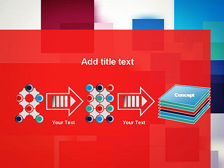 Overlapping Colorful Squares PowerPoint Template Slide 9