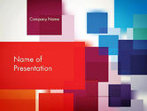 Abstract/Textures: Overlapping Colorful Squares PowerPoint Template #13146