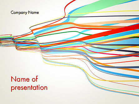 Waving Colored Stripes PowerPoint Template